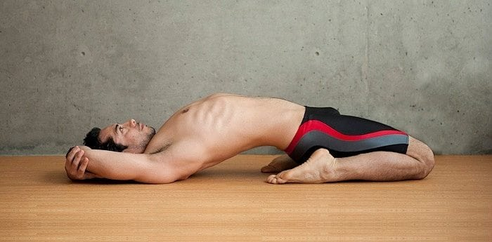 Supta Vajrasana (Sleeping Thunderbolt Pose) meaning, steps, precautions and benefits