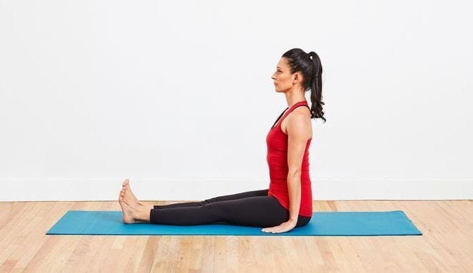 Dandasana (Staff Pose) steps, precautions and benefits