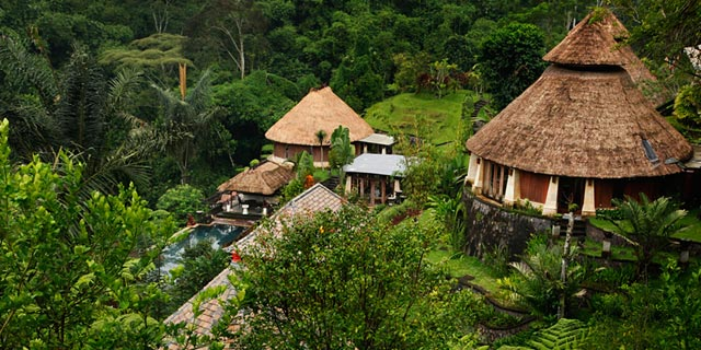 Bagus Jati Resort in Bali - greenery and sky view