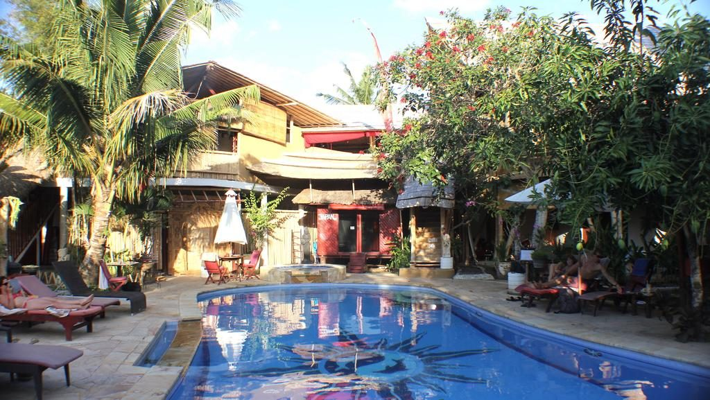 serenity eco guest house - pool view
